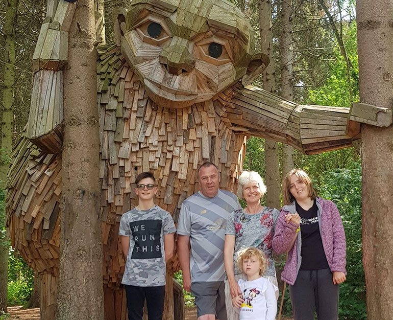 Sue and her family