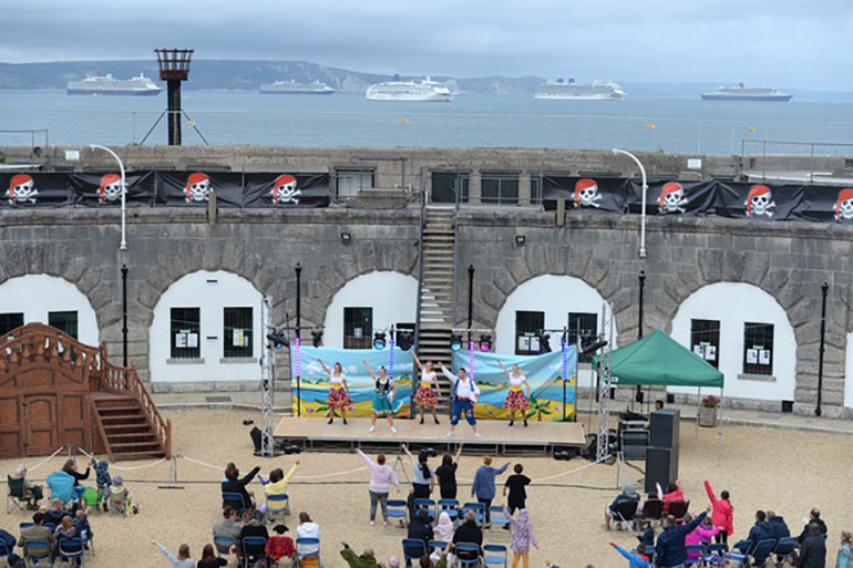 Pirates of the Pavilion took place at Nothe Fort last summer