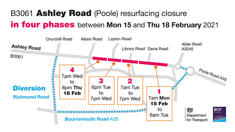 Ashley-Road-resurfacing-closure-map