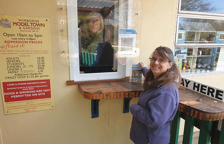 Distanced volunteers Sue Venier, left, and Niki Turner