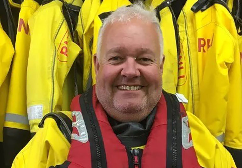 Volunteer helm Jon will be on call this bank holiday
