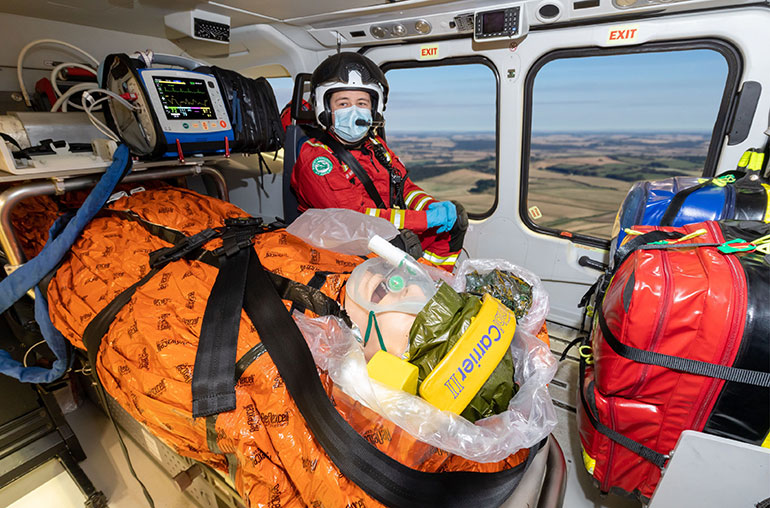 DSAA-using-Air-Ambulance-Edition-Blizzard-Blanket
