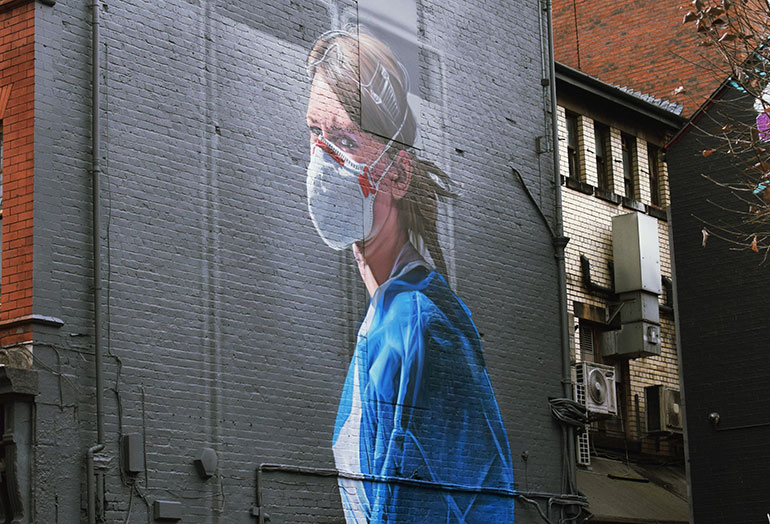 Mural for the NHS Photo by Matthew Waring on Unsplash