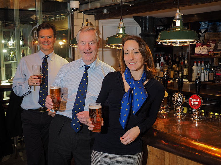 L – R, Anthony Woodhouse, chairman, Mark Woodhouse, family director and Lucinda Gray, company relationship manager