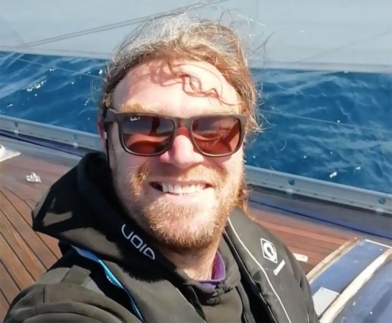 Craig Gray onboard Coco