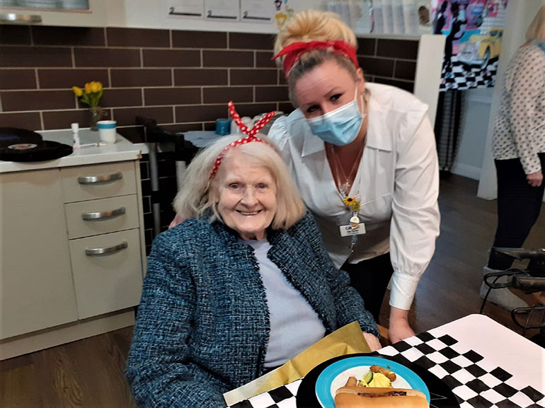 Home manager at The Potteries, Zita Turner (right) with resident Nancy Forbes