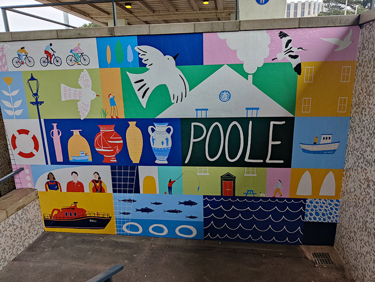 One of the Poole murals