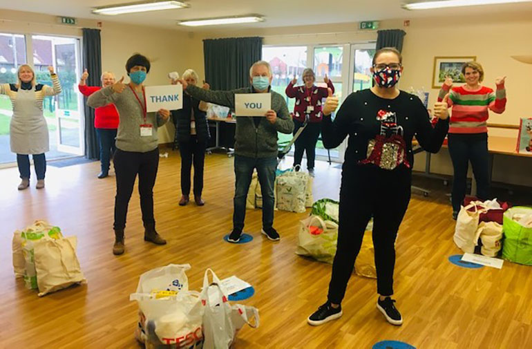 Wimborne foodbank volunteers say thank you