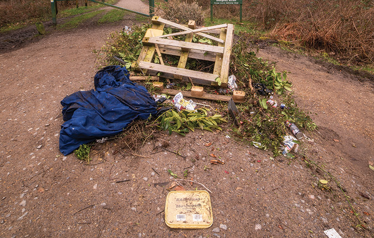 Scenes of fly-tipping are becoming more frequent throughout Dorset © Louis Pulford