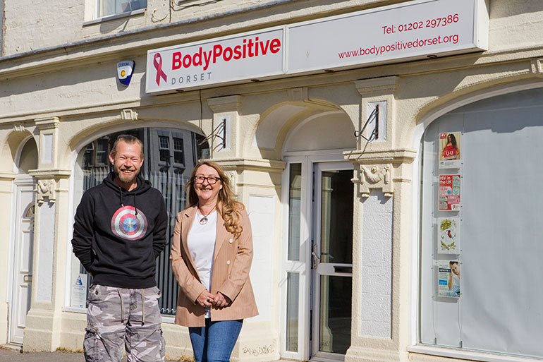 Par and Samantha at The Body Positive centre