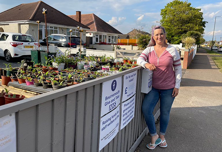 Sharon Valler by her plant stall