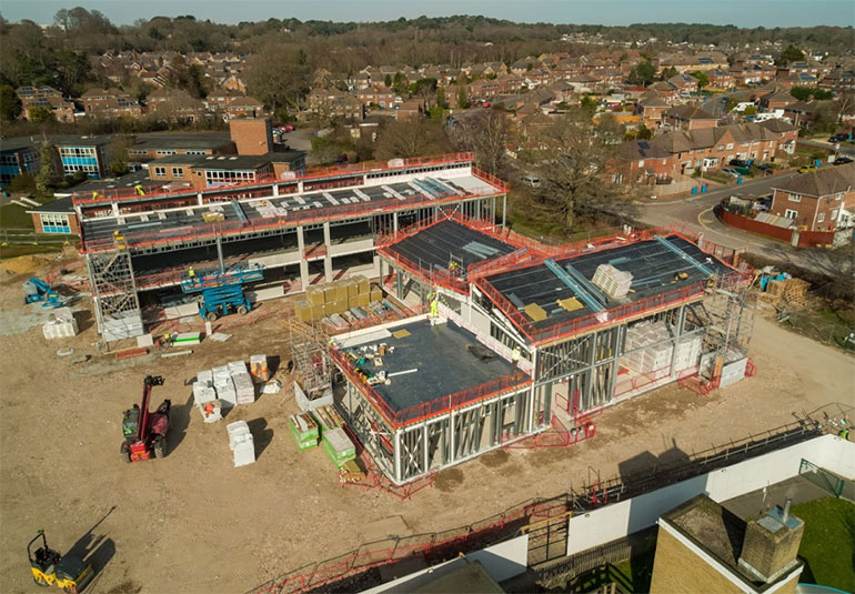 The new school takes shape