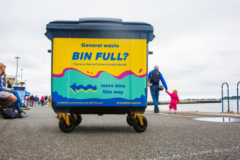 Colourful Wheely bin in Bournemouth