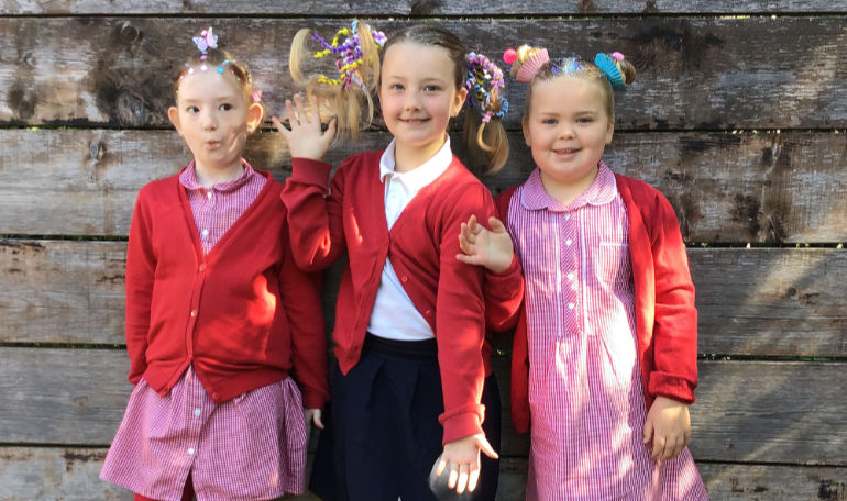 Crazy hair day at Pamphill First School