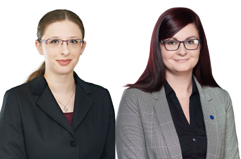 Amy Turvey and Elise Basing of Douch Family Funeral Directors