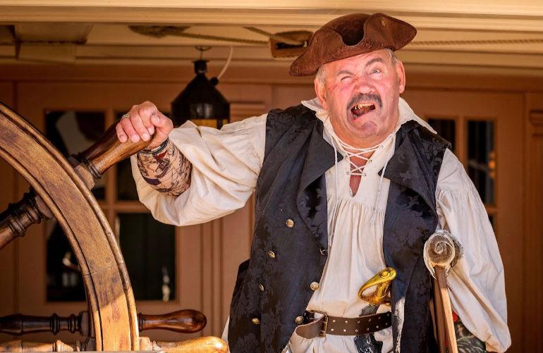 Mark Ward as Long John Silver. Photo by Becky Takes Photos