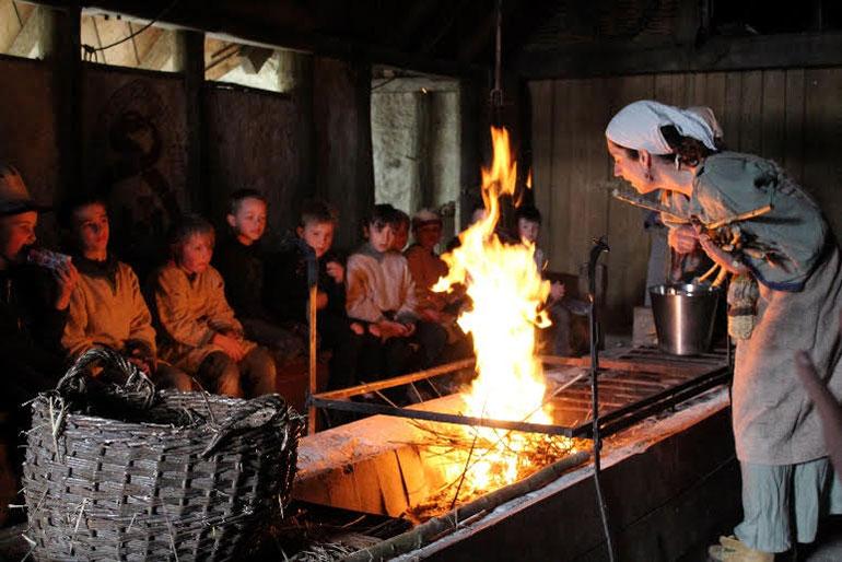 Pupils at the Cranborne Ancient Technology Centre