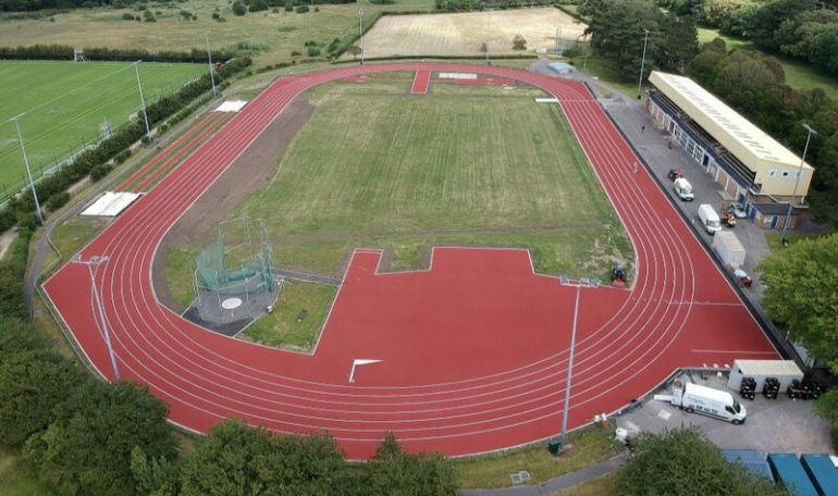 Aerial shot of Kings Park Athletics Centre - © Cleveland Land Services
