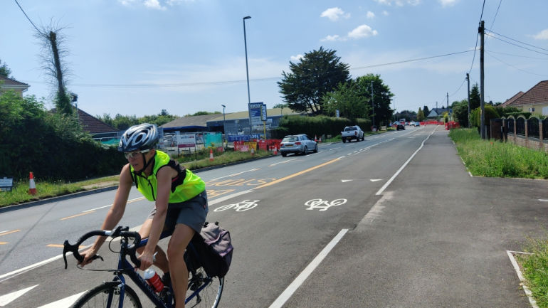 Lynsey Gentry using the new lane