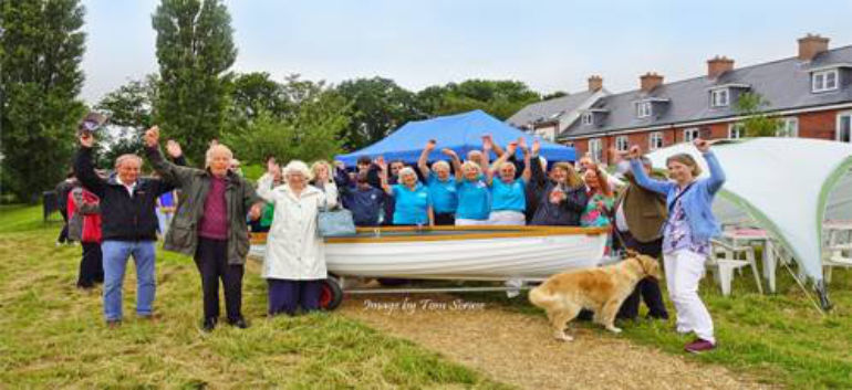 The christening of the boat © Tom Scrase