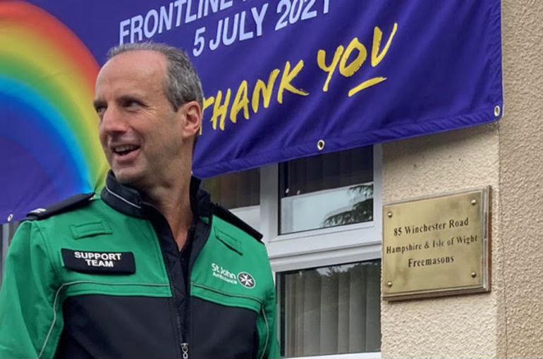 Jon Whitaker who heads the Freemasons in Hampshire and the Isle of Wight and who also volunteers for the St John Ambulance