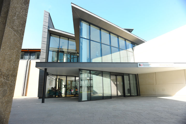 Kimmeridge House where the vaccination clinic is located at Bournemouth University
