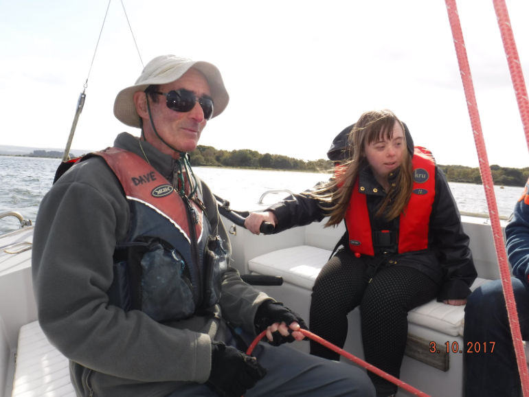 Young sailors enjoying the sea at Poole Harbour with Poole Sailability