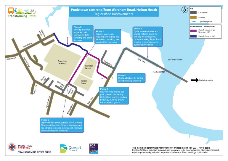 Plans of the planned improvements at Rigler Road, Blandford Close and Hamworthy Recreation Ground