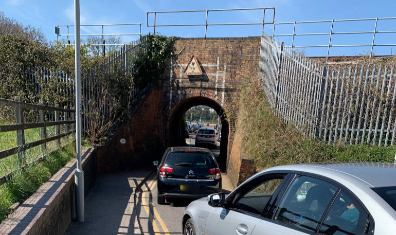 The narrow Keyhole Bridge in Poole that will be the subject of a judicial review