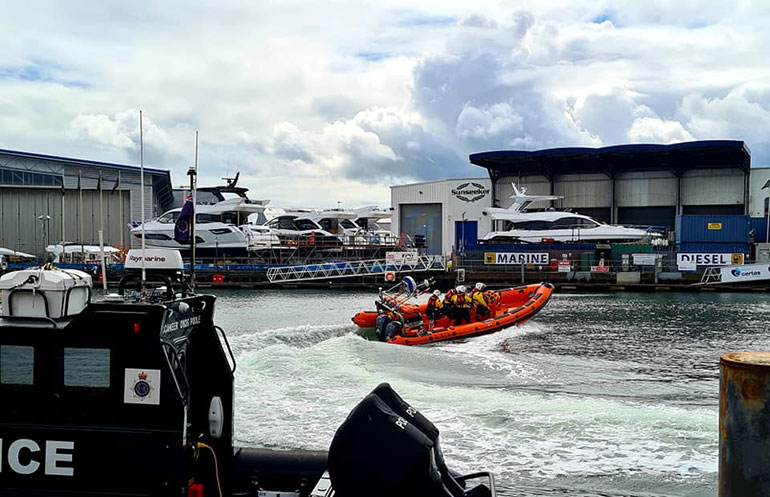 Photo of lifeboat crew • credit Zandra Robinson