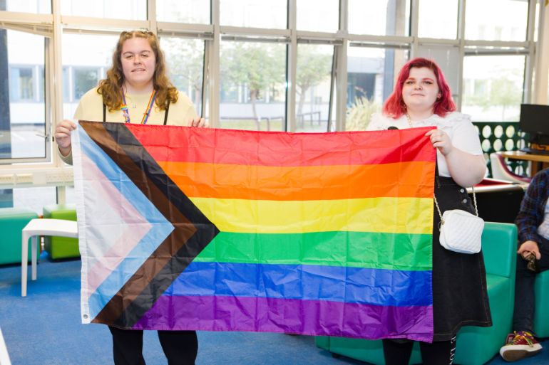 Jodie and Eloise: Donation helps Space Youth Project a Bournemouth-based LGBT+ charity