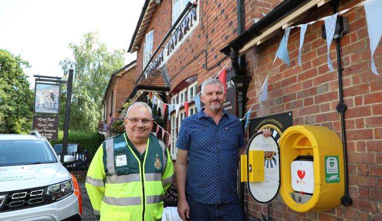 First responder Denis Hamm and landlord Phil Hoyle