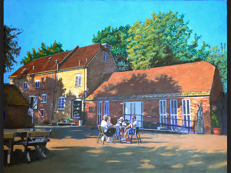 Walford Mill painted by Bernie Lusher