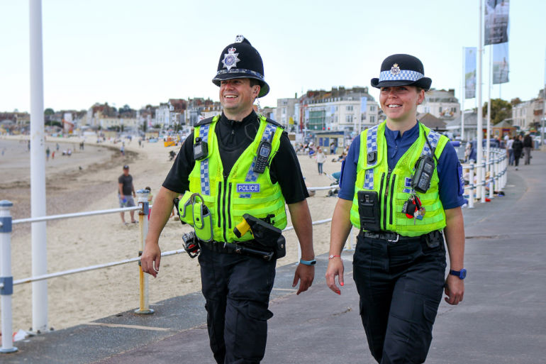 Officers on patrol in Weymouth