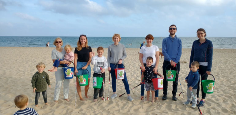 Rope, cigarette butts, plastic and bottles were found on a beach clean © Good Oaks Home Care Bournemouth and Poole