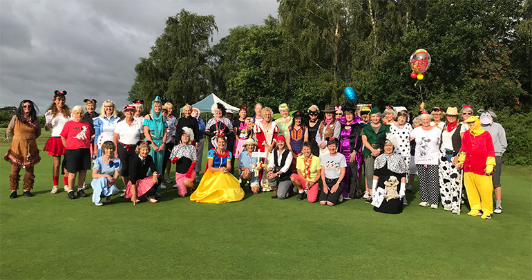 Burley Golf Club's Disney-themed fundraising for Minstead Trust on Lady Captain's Day