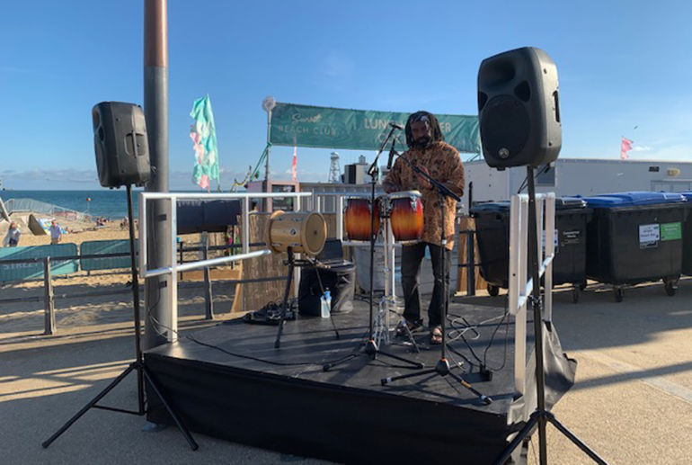 The Coastal Vibe event on Pier Approach, part funded by Bournemouth Coastal BID