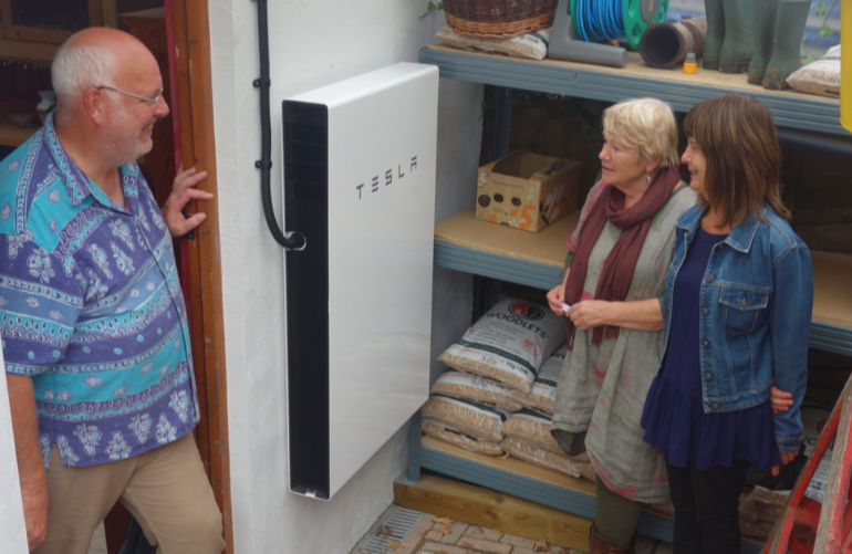 John Tassell discussing his home battery at a previous open homes event