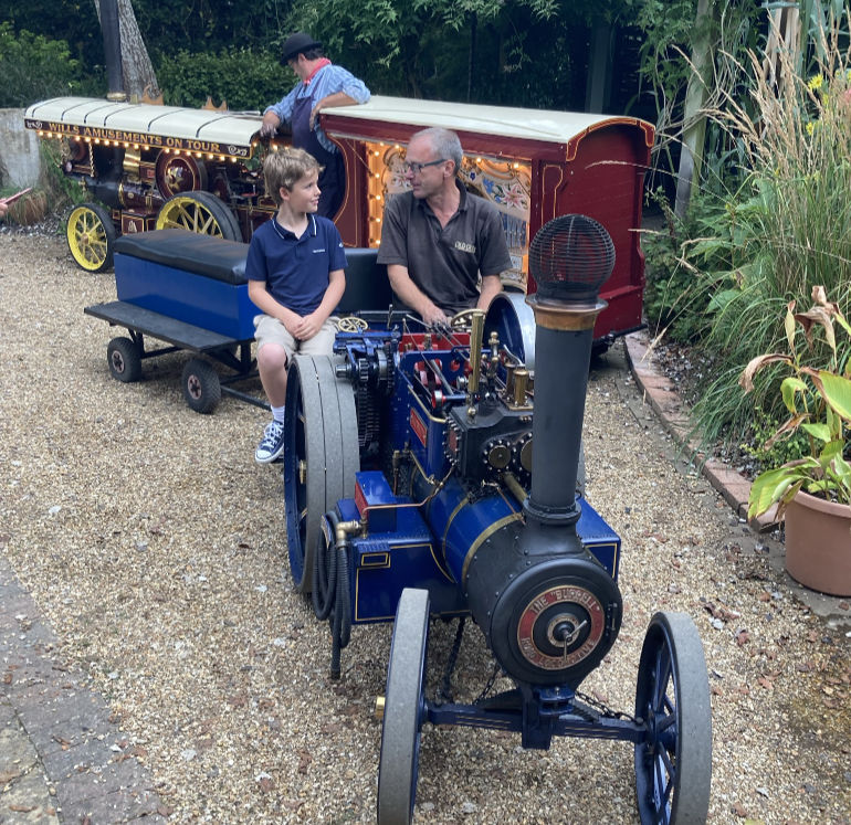 Joseph Brown with engine driver Paul Ritchie