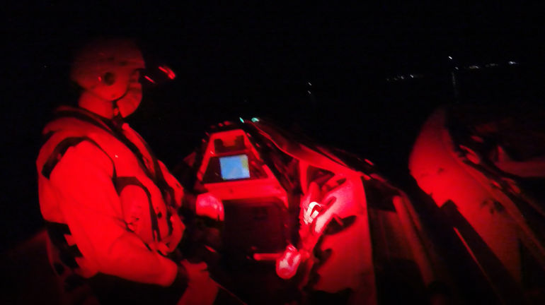 Maiden rescue voyage for new Poole Lifeboat helmsman Stirling