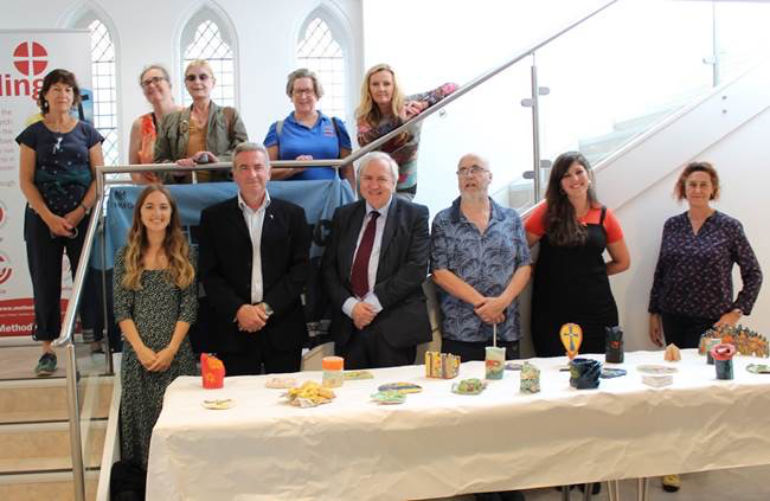 MP Sir Robert Syms pictured in front row (third from left) helped celebrate Poole's heritage