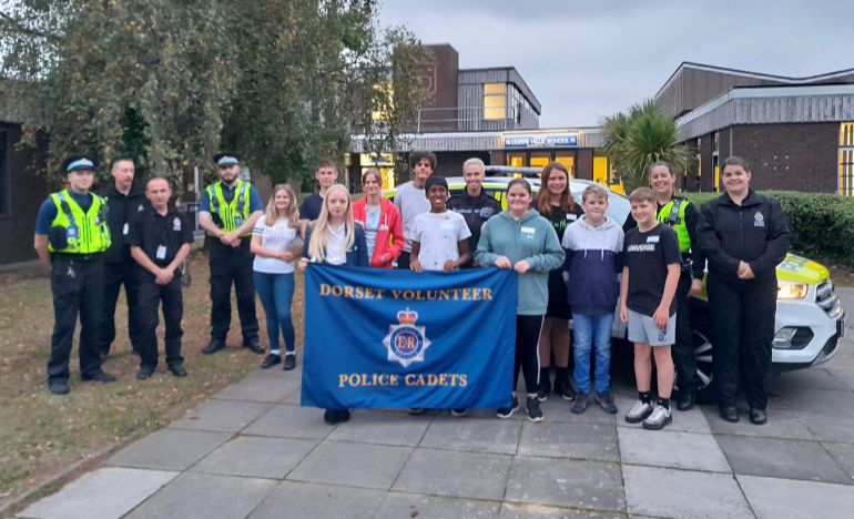 Poole Police Cadets Unit launched at Corfe Hills School