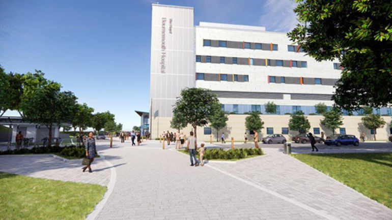 Artist's impression of new build at RBH