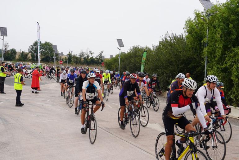 Start of the Coast to Coast Cycle Challenge