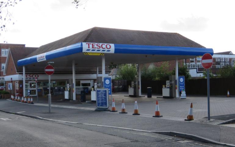 Tesco fuel station Ferndown