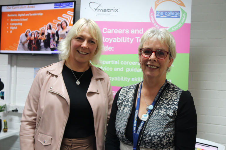 Rebecca Davies from Dorset LEP and Diane Grannell