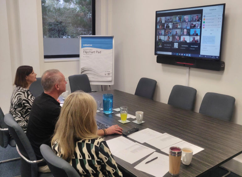 Dorset Chamber chief executive Ian Girling, centre, and his team host virtual meeting of 'Guys, let's talk about the Menopause' event