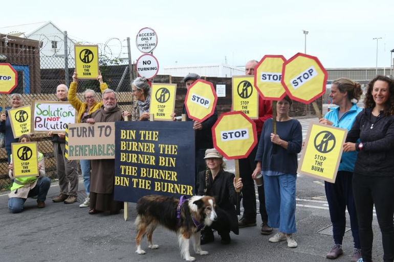 Join the protest march against waste incineration at Portland Port on Saturday 16 October